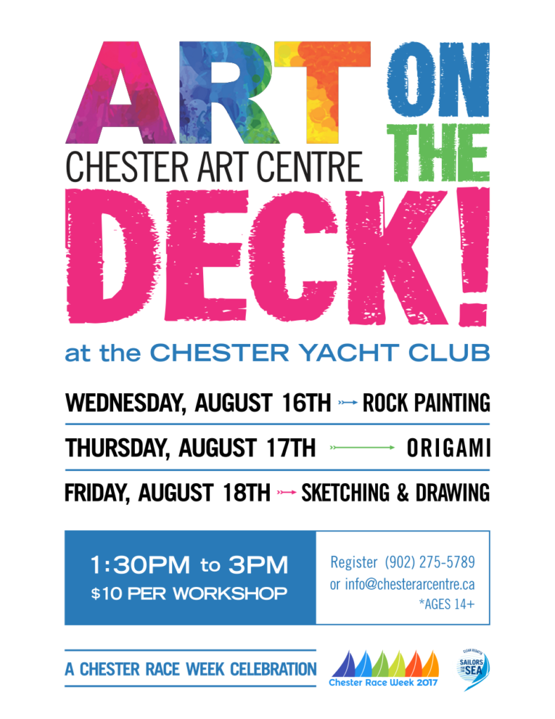 Art on the Deck! - A Chester Race Week Celebration - August 16th to 18th at the Chester Yacht Club