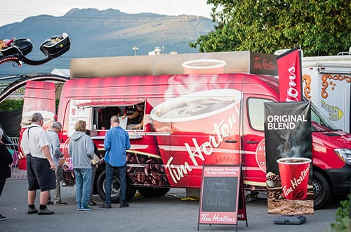 Tim Horton's Coffee Truck