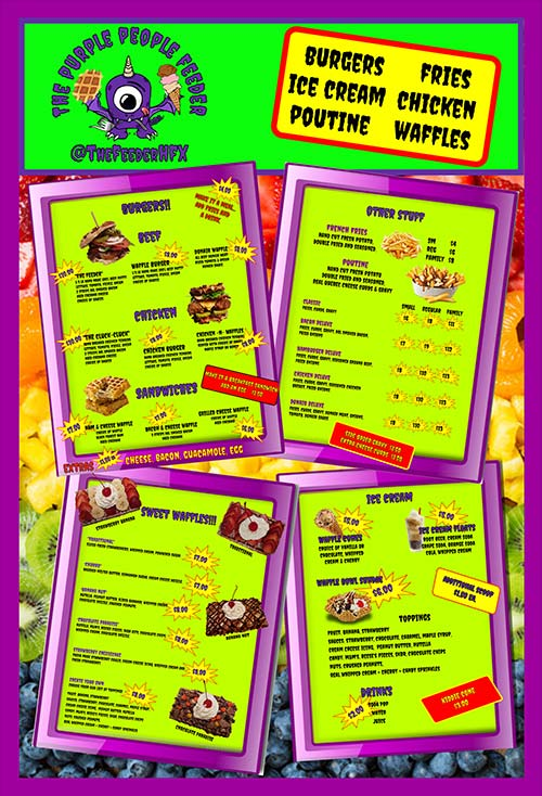 Purple People Feeder | 2019 Menu