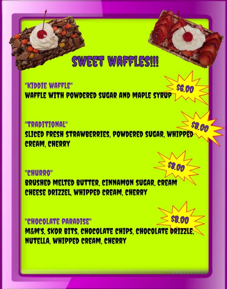 Purple People Feeder Menu - 03 - Sweet Waffles