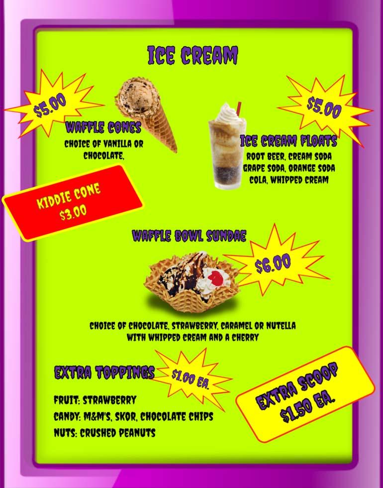 Purple People Feeder Menu - 04 - Ice Cream